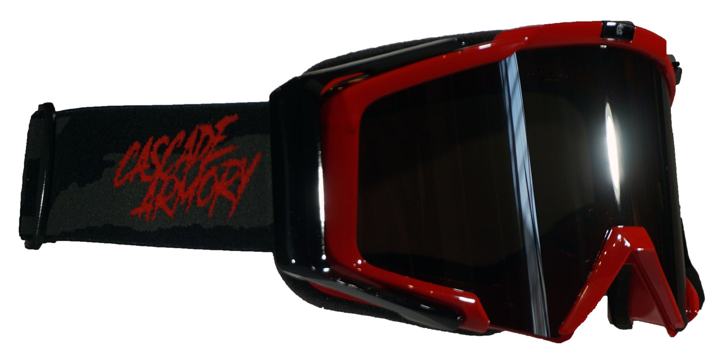 Red Duster MTB Goggles - Dark silver Lens