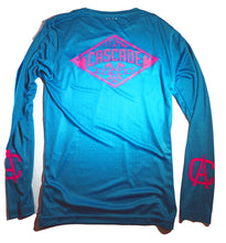 The Sender MTB Jersey - Teal and Hot Pink