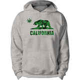 Party California Bear Weed Leafs Hoodie
