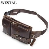 WESTAL Genuine Leather Waist Packs