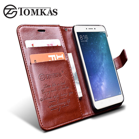 TOMKAS Original Flip PU Leather Wallet Case Cover