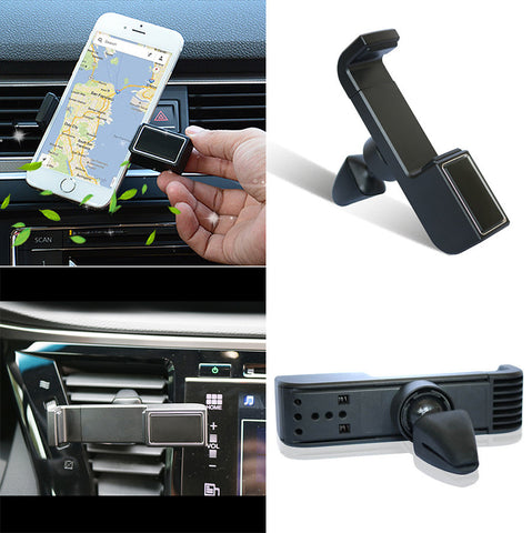 Black Car Air Vent Mount Cradle Holder Stand For Mobile Smart Cell Phone