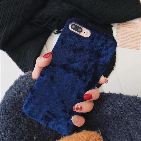 Velvet Soft Cell Case for iPhone X 8 7 Phone