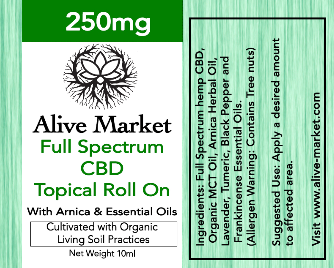 NEW! 250mg CBD Topical Roll On