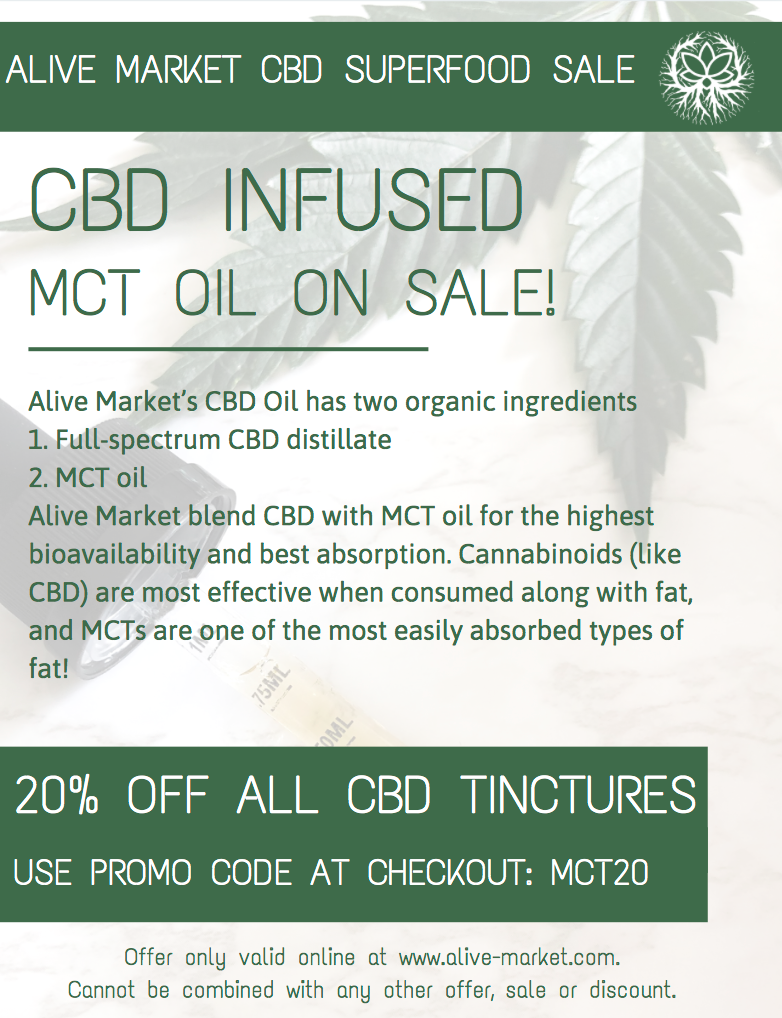 CBD INFUSED MCT OIL ON SALE!