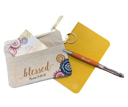 Grateful and Blessed Purse Set