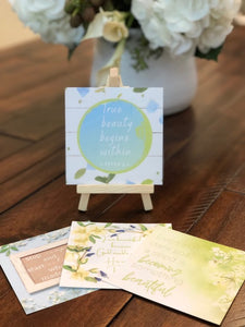 Thought of the Week cards with Easel