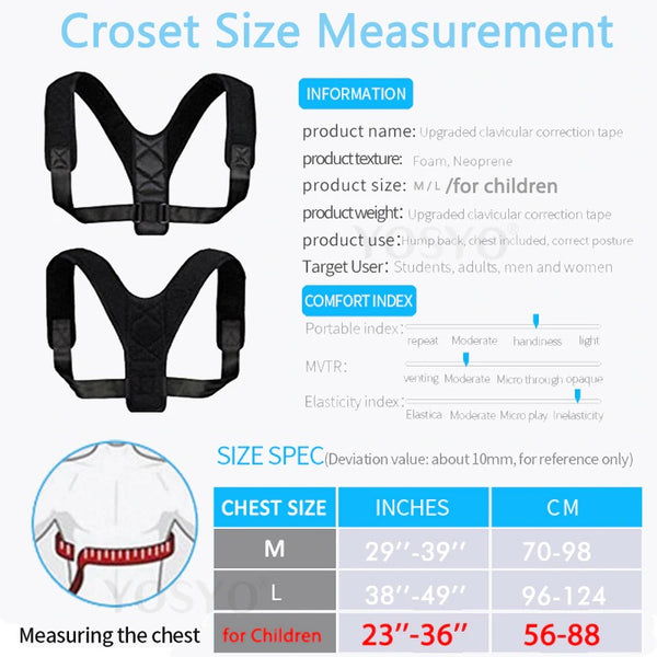 Posture Corrector Adjustable Back Straightener