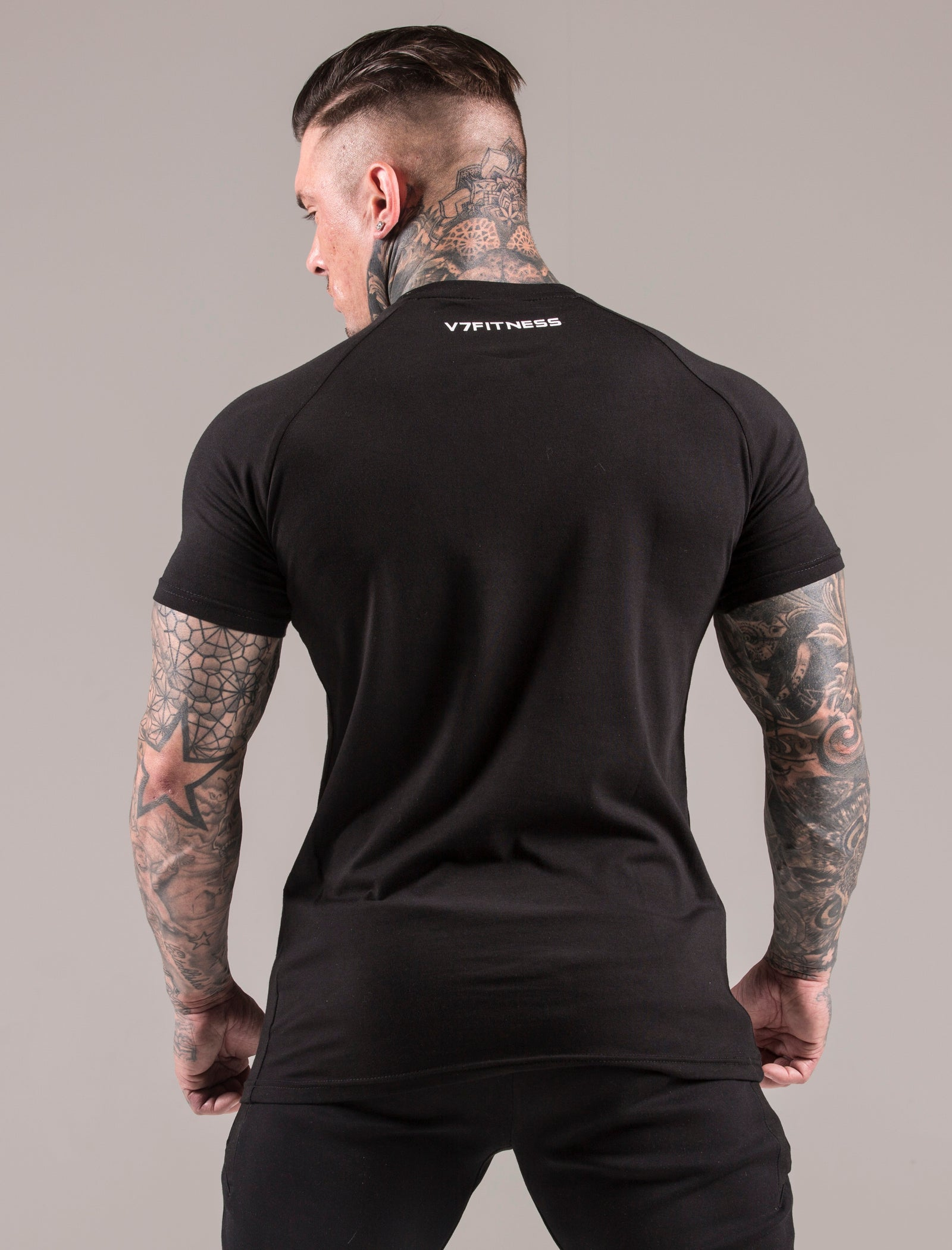 Black Statement Muscle Fit T-Shirt