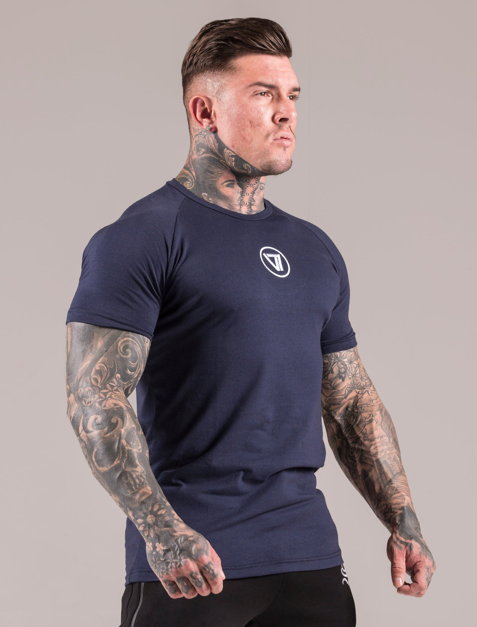 Blue Icon Muscle Fit T-Shirt