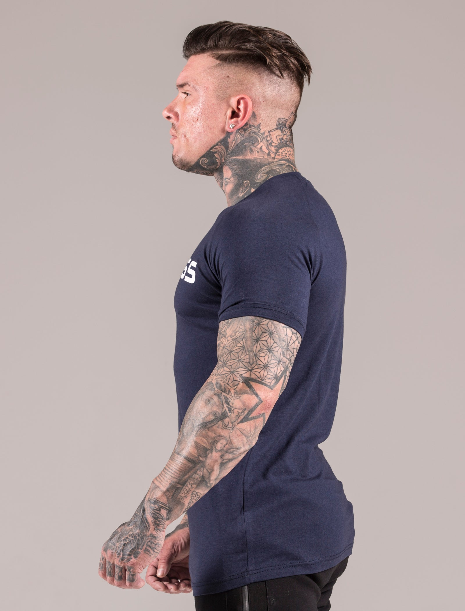 Blue Statement Muscle Fit T-Shirt