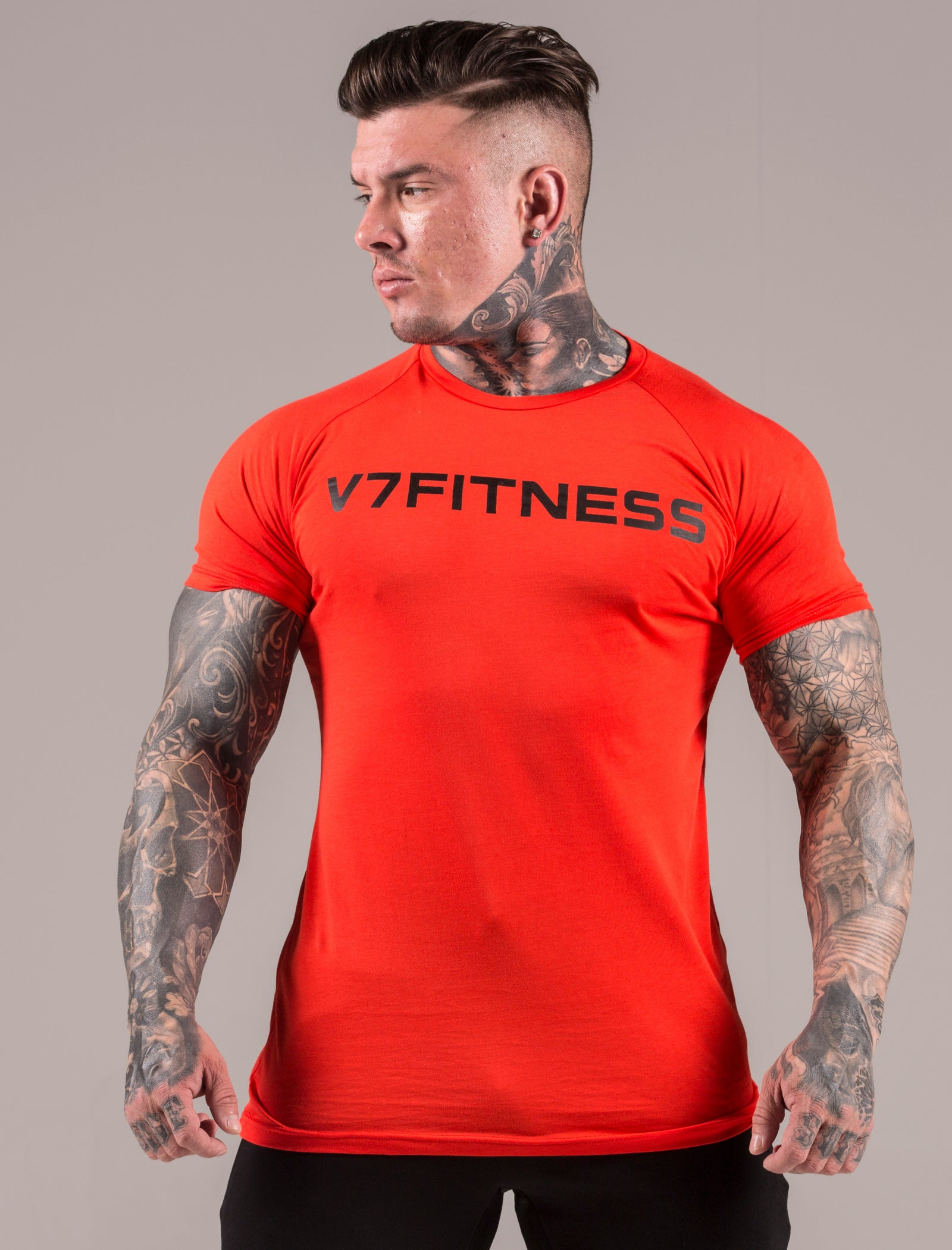 d307860b Coral Statement Muscle Fit T-Shirt – V7 Fitness