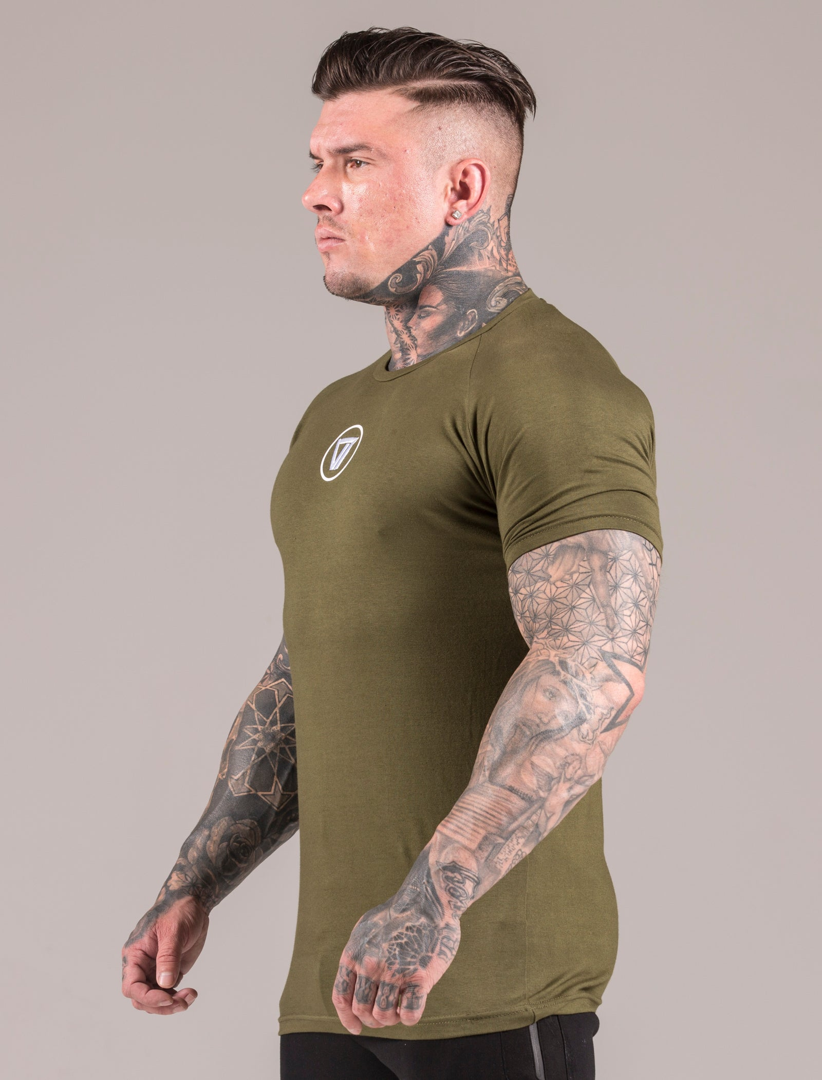 Khaki Icon Muscle Fit T-Shirt
