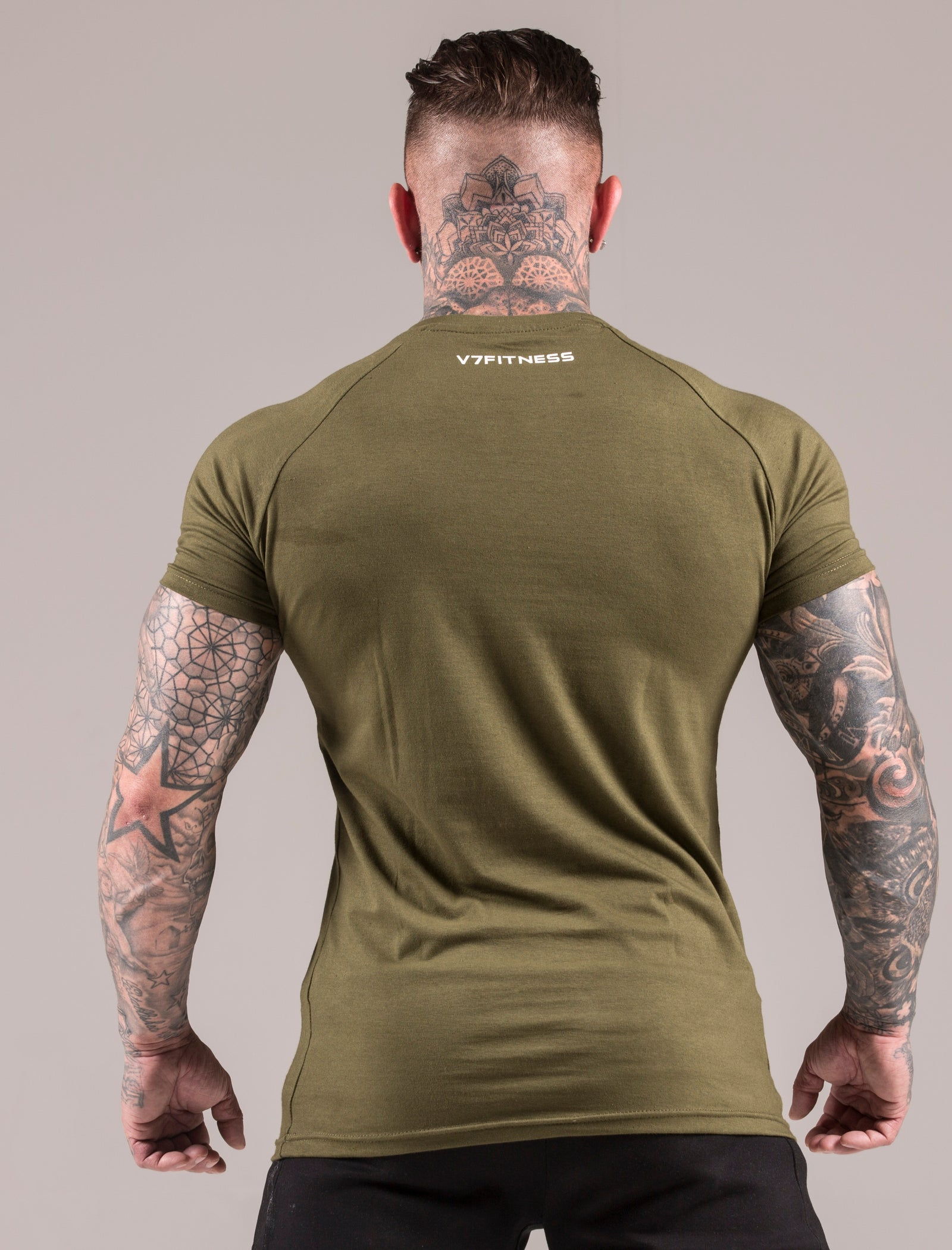 Khaki Statement Muscle Fit T-Shirt