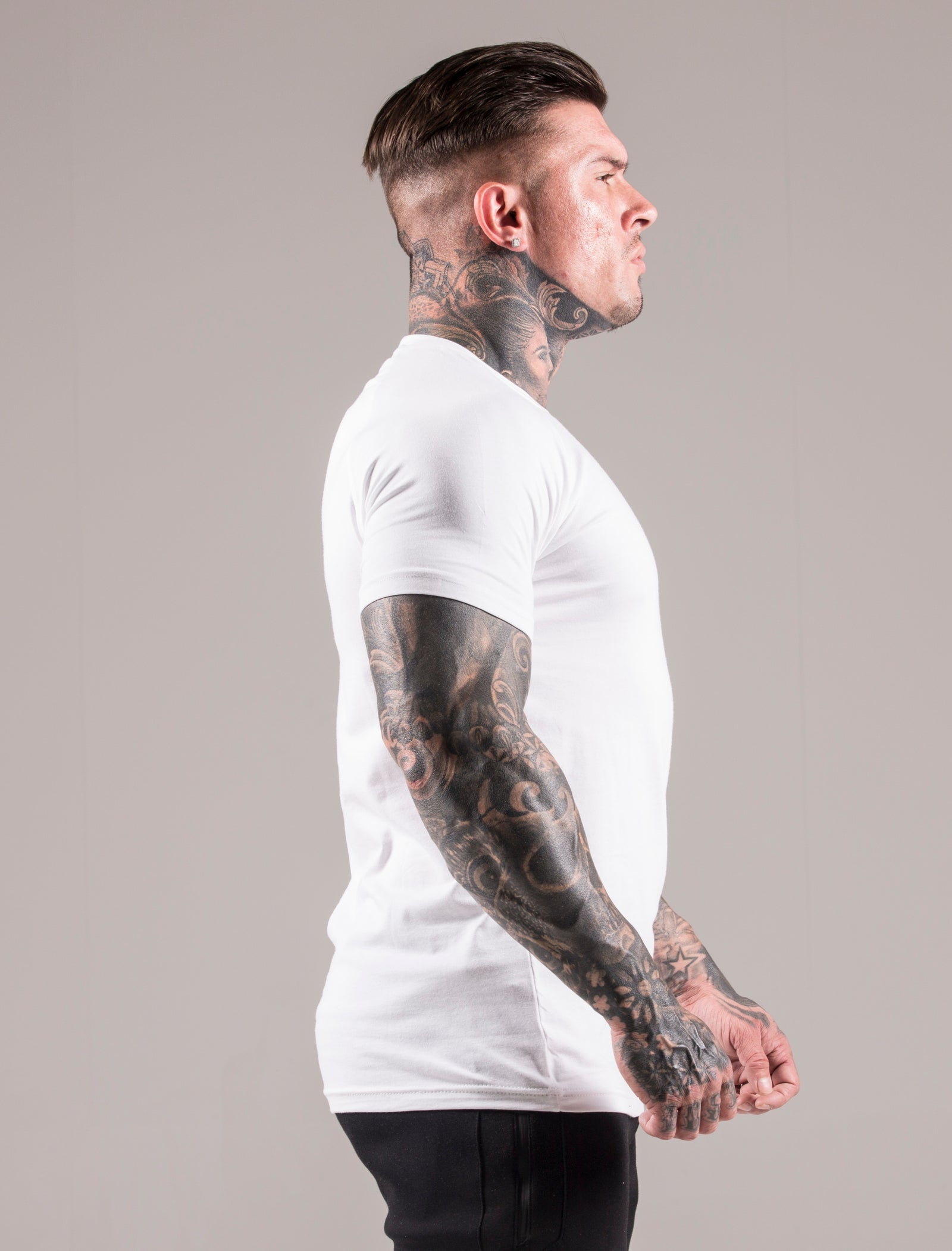 White Icon Muscle Fit T-Shirt