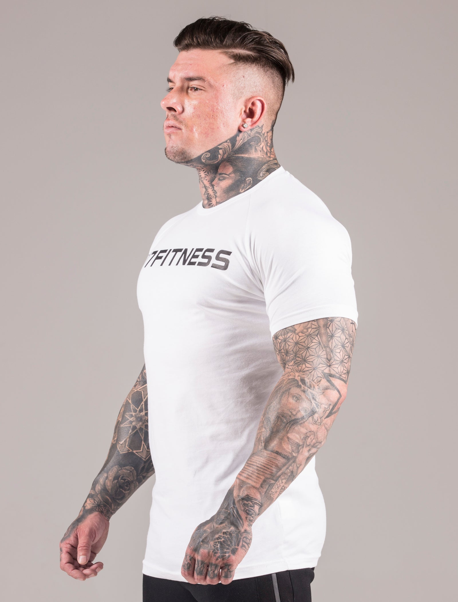 White Statement Muscle Fit T-Shirt