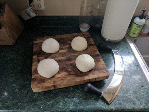 Four Neapolitan Pizza Doughs
