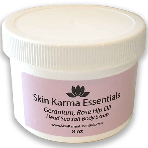 A gentle exfoliating and moisturizing scrub infused with essential oils that leaves your skin feeling silky and smooth without oily residue