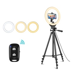 LED Ring Light Kit With Stand & Phone Holder for Live Streaming