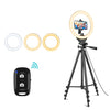 Image of LED Ring Light Kit With Stand & Phone Holder for Live Streaming