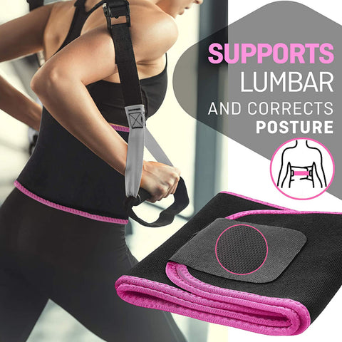 Waist Trimmer Belt With Lower Back And Lumbar Support