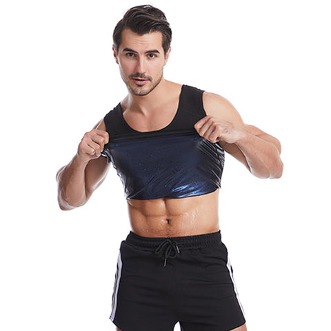 Mens Sauna Sweat Enhancing Compression Tank Top