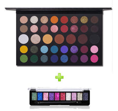 Cosmetics James Charles 39 Colors Eyeshadow Powder Palette x  Its Top Glitter  2Pc Kit