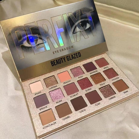 Cosmetics Beauty Glazed 18 Color Nude Eyeshadow Palette Waterproof