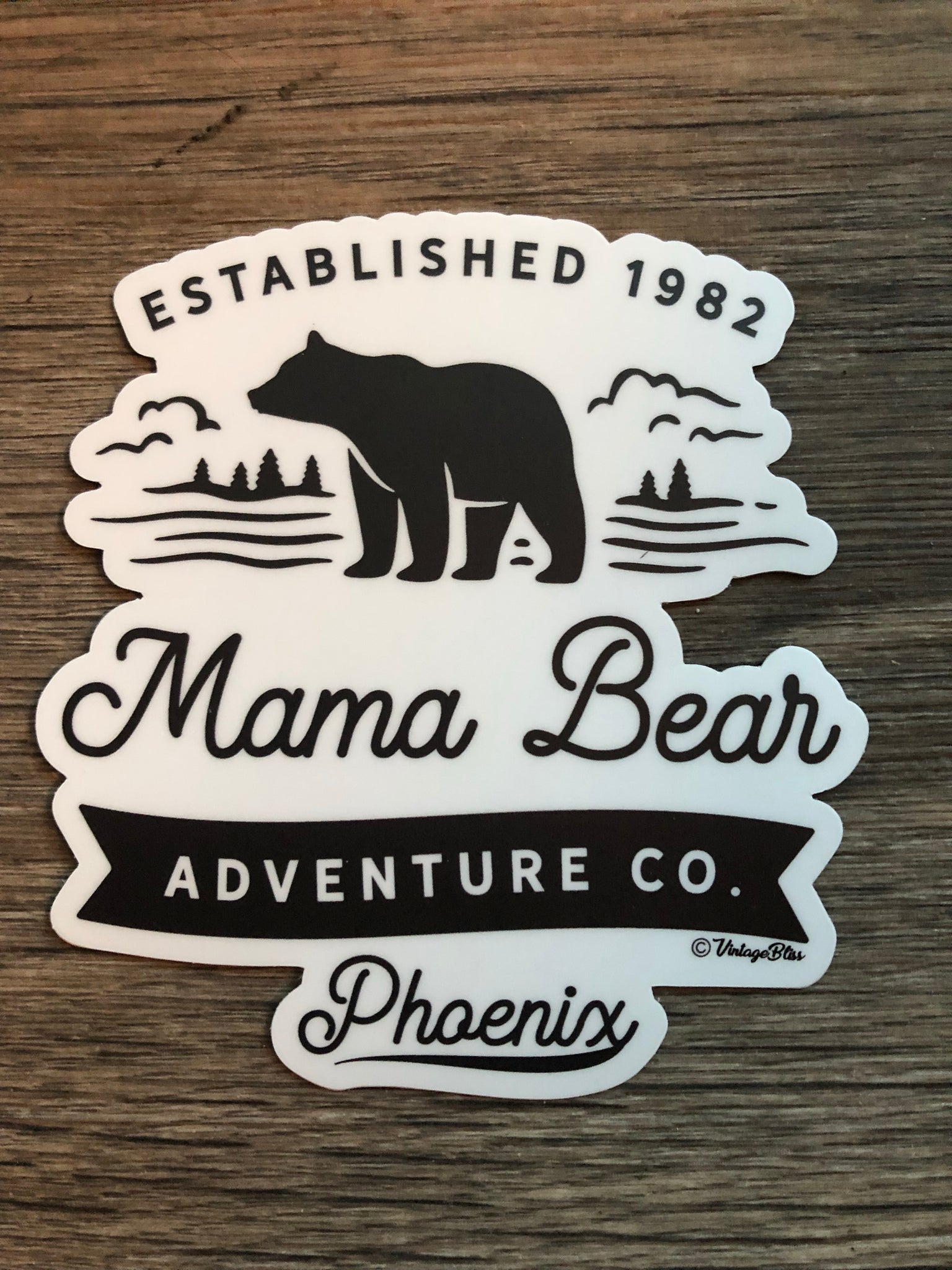 Mama Bear Adventure Co Die Cut Sticker