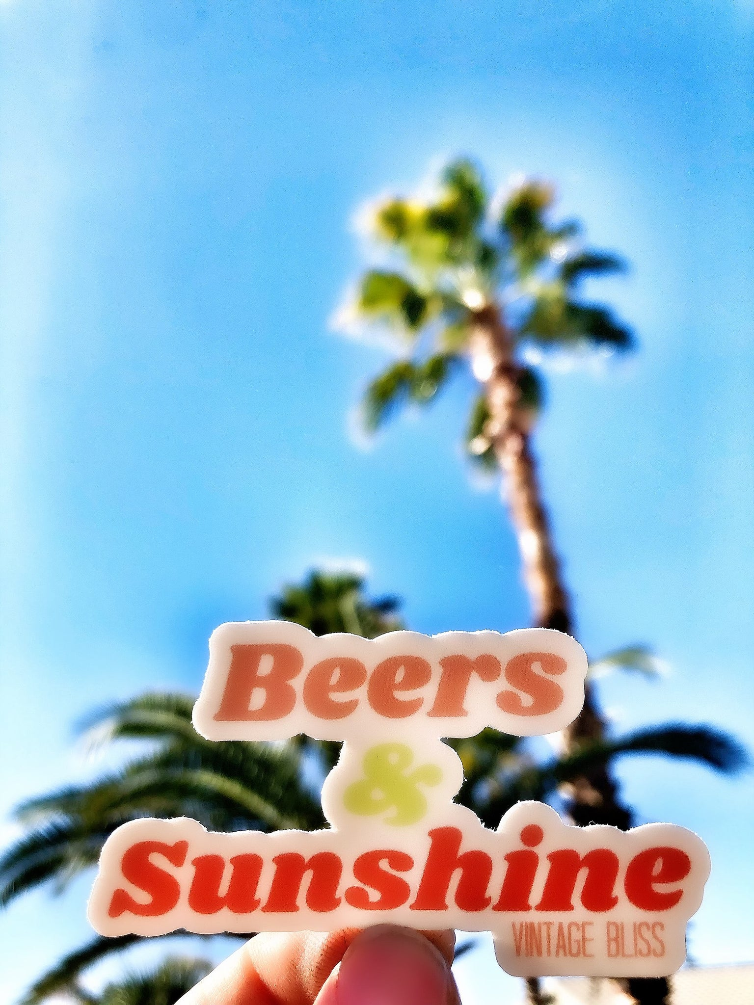 Beers & Sunshine Waterproof Sticker