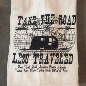 Take the Road Less Traveled Tea Towel