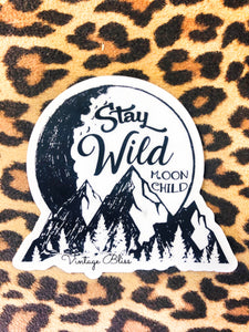 Stay Wild Moon Child Waterproof Sticker