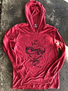 She Who Is Brave Red Lightweight Hoodie
