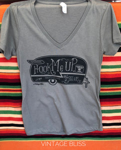 Hook Me Up Trailer Company VNeck Tshirt