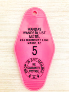 Wanda's Wanderlust Motel Retro Key Chain