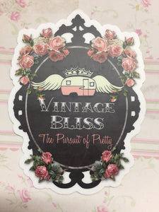 Vintage Bliss Die Cut Sticker