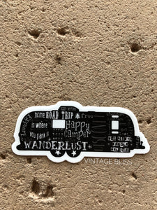 Vintage Trailer Travel Words Sticker