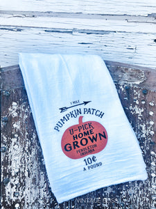 Home Grown Pumpkins Tea Towel