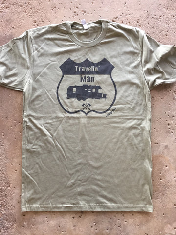 Travelin Man Men's tee Crew neck