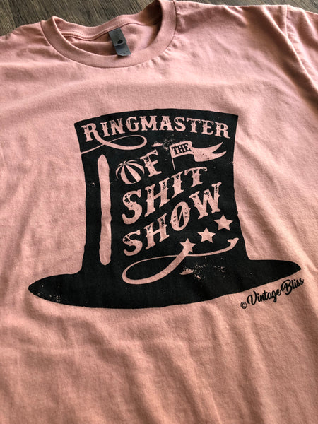 Ringmaster of the ShitShow Crew Neck T-shirt
