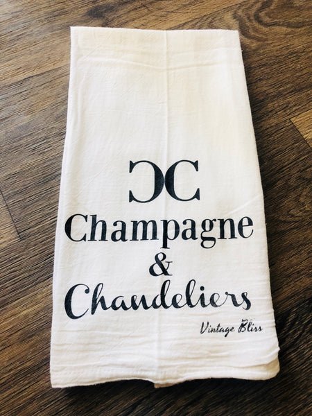 Champagne & Chandeliers Kitchen Towel