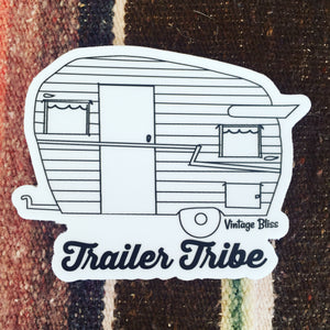 Trailer Tribe Vintage Trailer Sticker