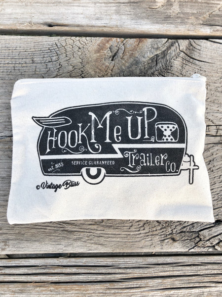 Hook Me Up Vintage Trailer Make Up Bag