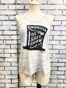 Ringmaster of the Shitshow Racerback Tank