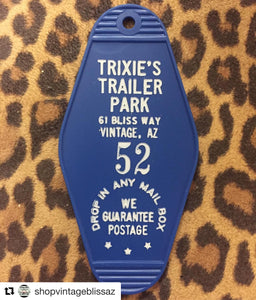 Trixie's Trailer Park Motel Key Fob