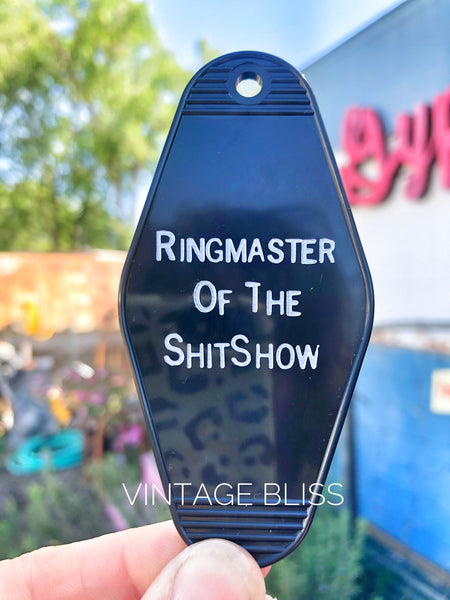 Ringmaster of the ShitShow Vintage Style Key Fob