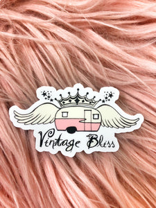 Vintage Bliss Camper Logo Sticker