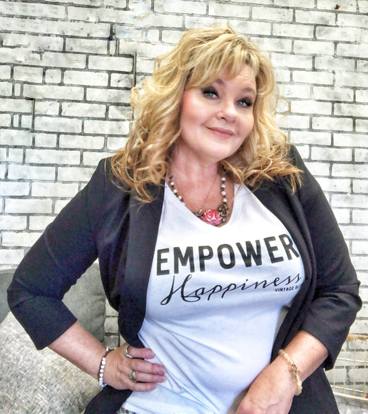 EMPOWER HAPPINESS V-neck T Shirt