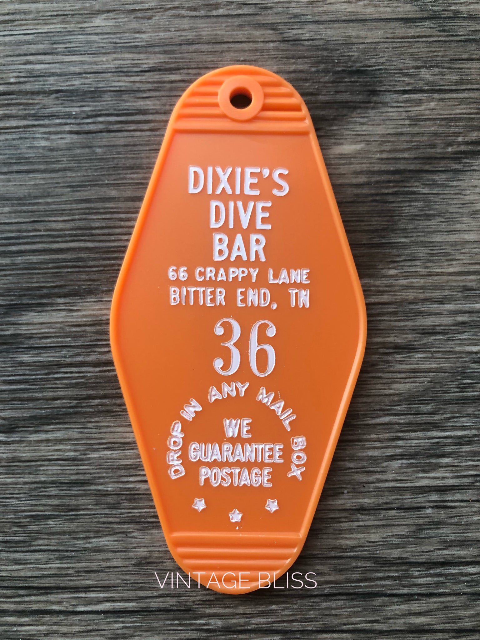 Dixie's Dive Bar Vintage Look Key Chain