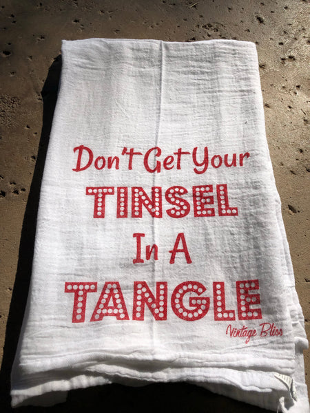 Don't Get Your Tinsel in a Tangle Tea Towel